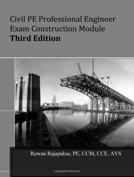Civil PE Professional Engineer Exam Construction